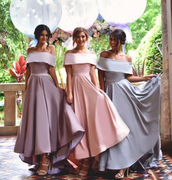 Off Shoulder Bridesmaid Dresses Simple Dress New Arrival Custom Wedding Party Long
